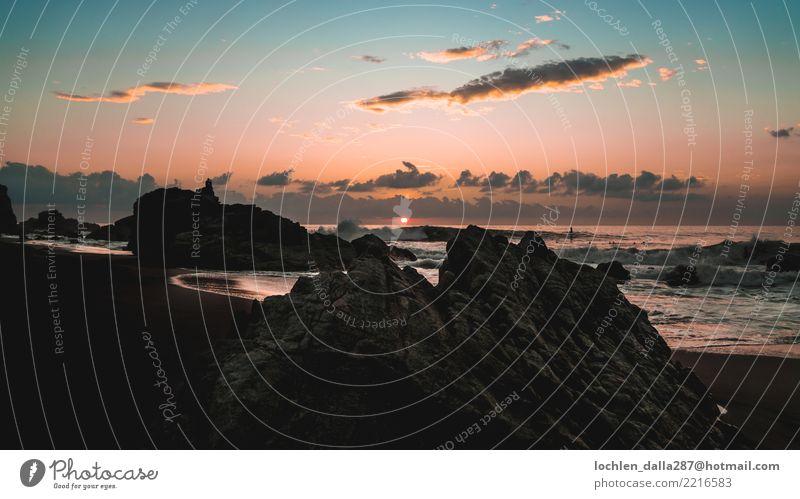 Sonnenkuß Ferien & Urlaub & Reisen Tourismus Ausflug Abenteuer Ferne Freiheit Sightseeing Sommer Strand Meer Wellen Freude Fröhlichkeit Himmel Wolken Farbfoto