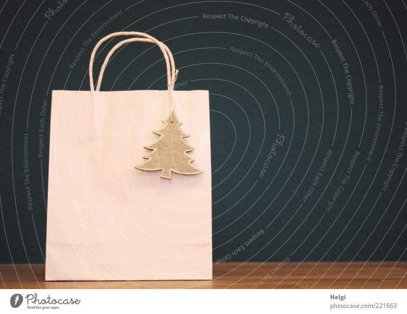 Weihnachtseinkäufe... Weihnachten & Advent schön weiß blau Holz Stimmung braun Feste & Feiern Design elegant Tisch Papier modern ästhetisch Geschenk