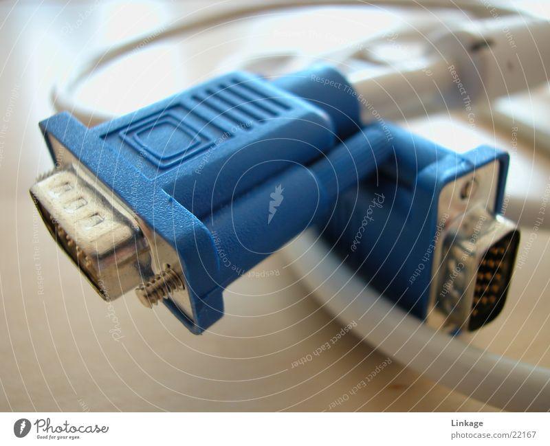 Stecker Elektrisches Gerät Technik & Technologie Kabel blau ps2 Informationstechnologie