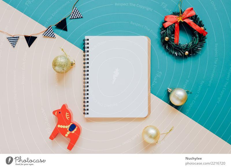 Flacher Lat der Weihnachtsverzierung Weihnachten & Advent Winter Stil Glück Feste & Feiern Design hell Dekoration & Verzierung modern Aussicht Kreativität