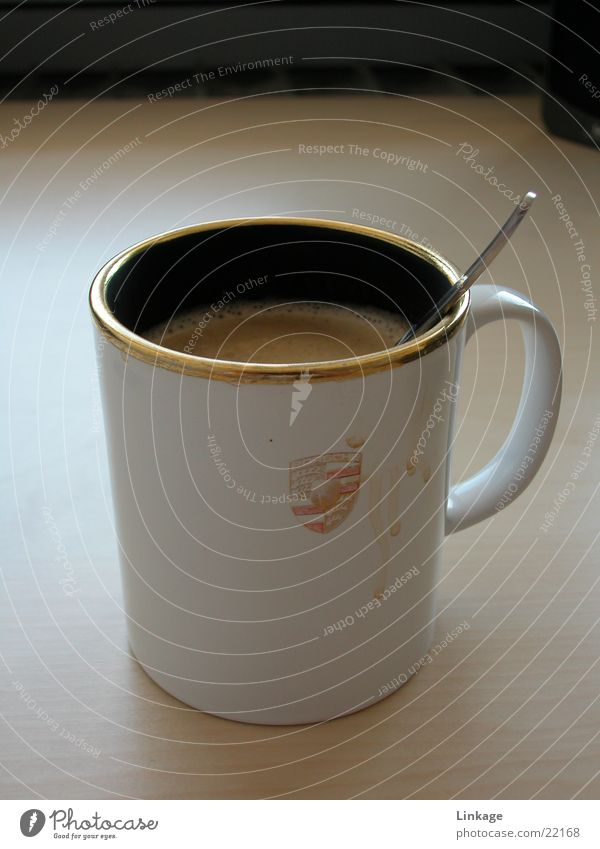 Kaffe Tasse Dorf Schreibtisch Alkohol Löffel