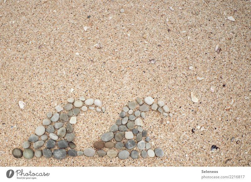 Wellengang Ferien & Urlaub & Reisen Tourismus Ausflug Abenteuer Ferne Freiheit Sommer Sommerurlaub Strand Meer Wasser Küste Zeichen natürlich Fernweh Stein