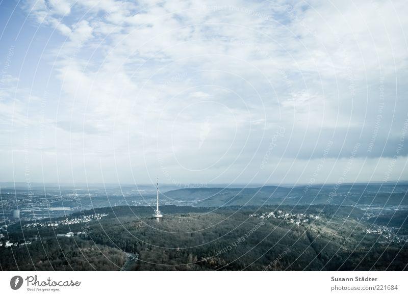 Himmel über Stuttgart Erde Wolken Schönes Wetter Wald Ferien & Urlaub & Reisen Turm Sendemast Fernsehturm Berge u. Gebirge Schwarzwald Wohnsiedlung Haus oben