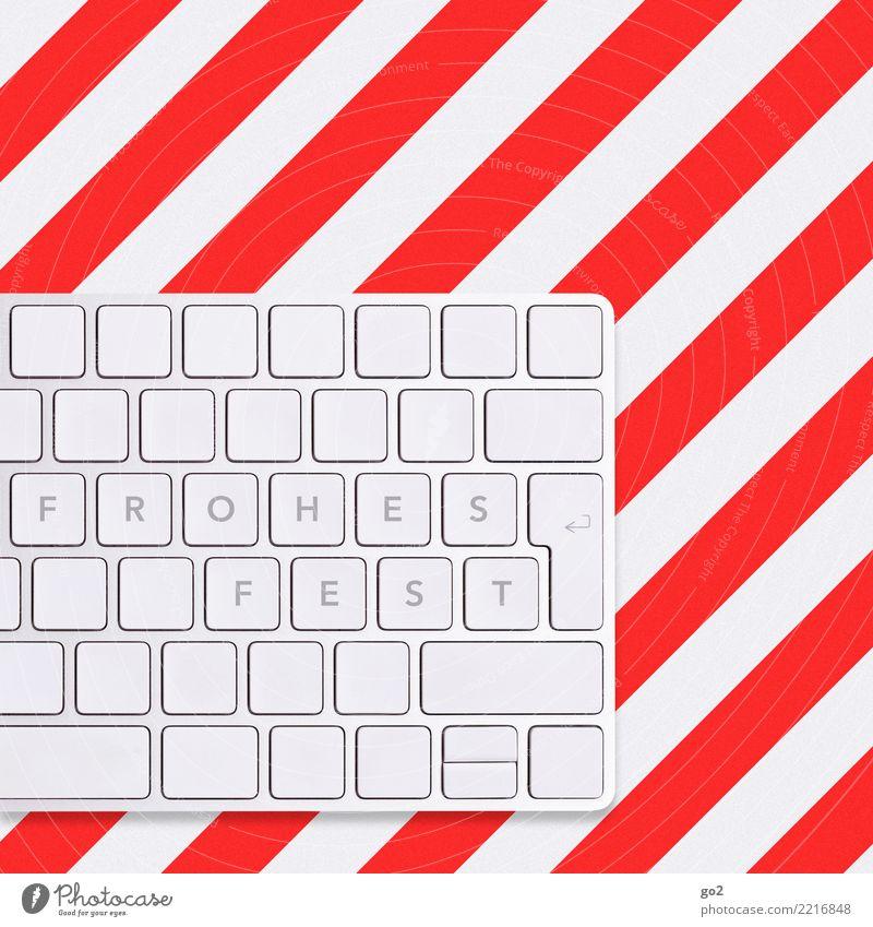 Frohes Fest Weihnachten & Advent Büroarbeit Arbeitsplatz Computer Tastatur Hardware Technik & Technologie High-Tech Informationstechnologie Internet