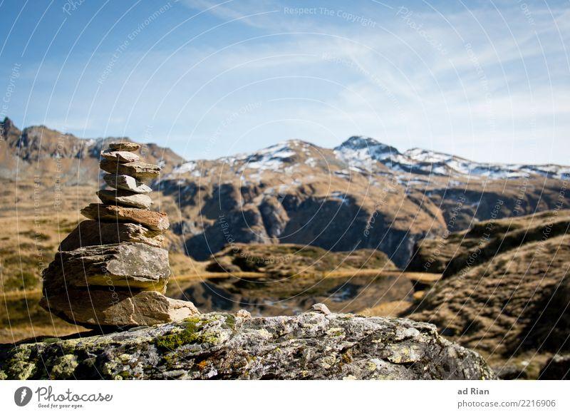 Wanderwetter XI Natur Ferien & Urlaub & Reisen Pflanze Landschaft Tier Ferne Berge u. Gebirge Umwelt Herbst Gras Tourismus Freiheit Stein See Felsen Ausflug