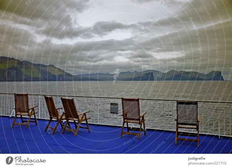Färöer Natur Wasser Himmel Meer Wolken Ferne dunkel Berge u. Gebirge Stimmung Umwelt Insel Stuhl Klima wild außergewöhnlich Hügel