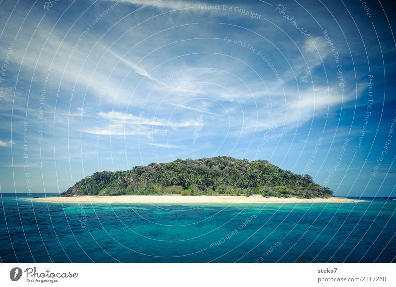 Die Insel Sommer Strand Meer Sulu Meer Pazifik maritim Wärme blau gelb grün türkis Einsamkeit Erholung Hoffnung Idylle Überleben Ferien & Urlaub & Reisen