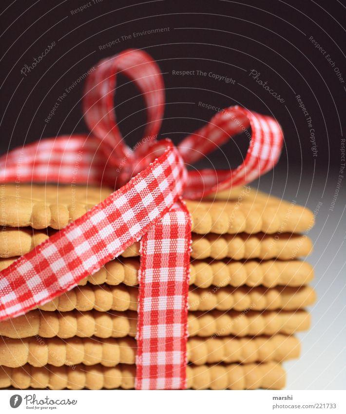 leckeres Päckchen Lebensmittel Ernährung Dekoration & Verzierung Geschenk Appetit & Hunger Süßwaren kariert Verpackung Stapel Backwaren Schleife Dessert Keks