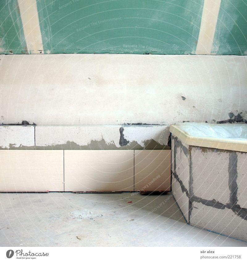 verlegen Arbeit & Erwerbstätigkeit Maurerhandwerk Baustelle Handwerk Einfamilienhaus Bad Fliesen u. Kacheln spachteln Betonboden Badewanne Rigips Ütonsteine