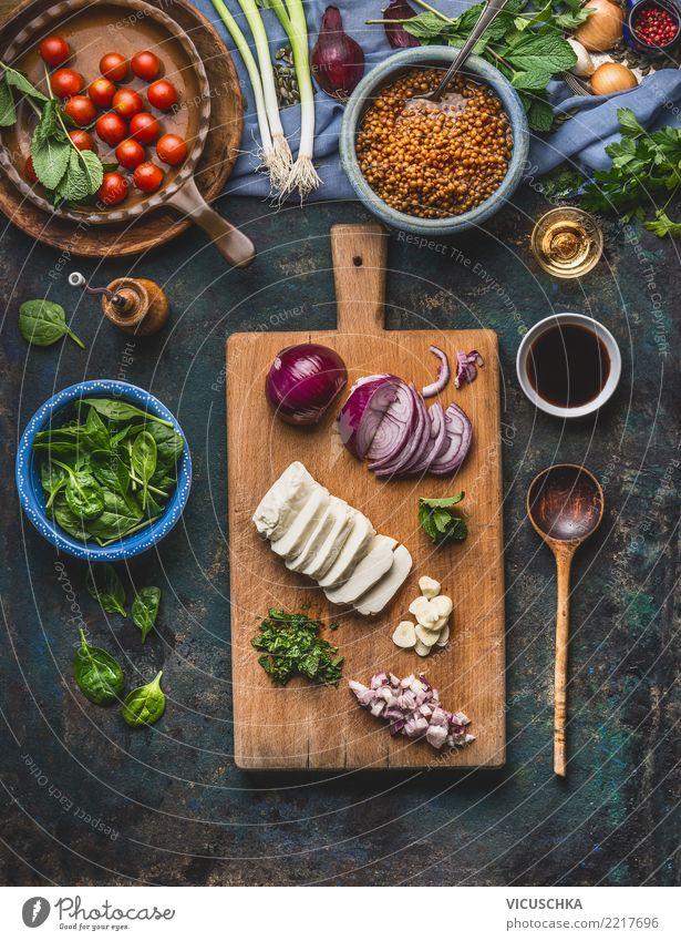 Vegetarische Linsenspeise kochen Lebensmittel Käse Milcherzeugnisse Gemüse Getreide Kräuter & Gewürze Ernährung Mittagessen Büffet Brunch Festessen Bioprodukte