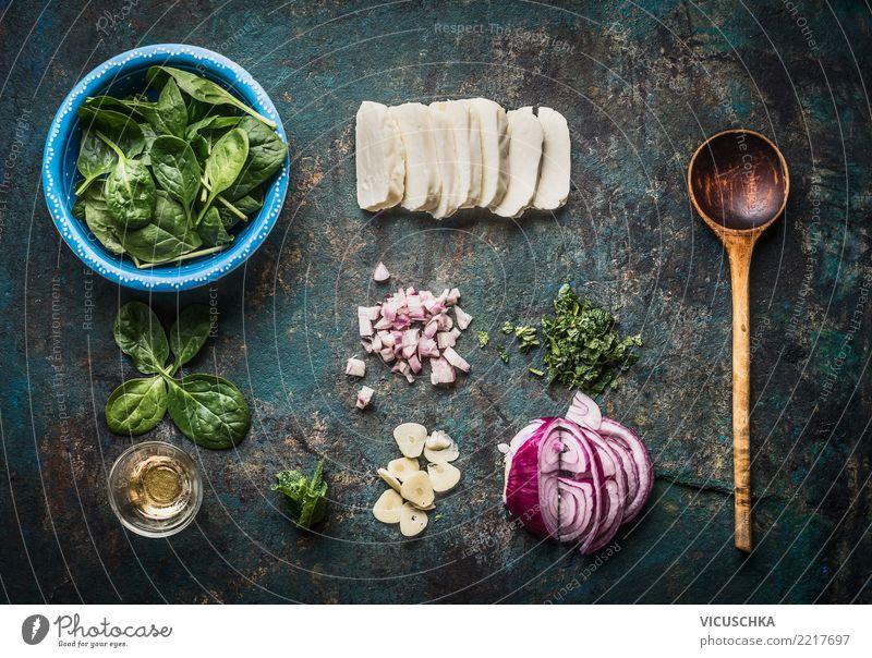 Vegetarische Zutaten für schmackhafte Gerichte Gesunde Ernährung Foodfotografie Stil Lebensmittel Design Kräuter & Gewürze Gemüse Restaurant Bioprodukte