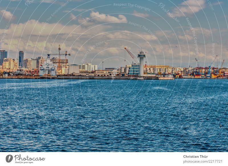 Hafen von Neapel Ferien & Urlaub & Reisen Sommer Stadt Haus Ferne Gebäude Tourismus Freiheit Ausflug Zufriedenheit Abenteuer Italien Turm Bauwerk Sommerurlaub