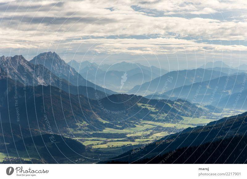 Steirische Bergwelt harmonisch Ferien & Urlaub & Reisen Tourismus Ausflug Abenteuer Ferne Freiheit Berge u. Gebirge wandern Wolken schlechtes Wetter