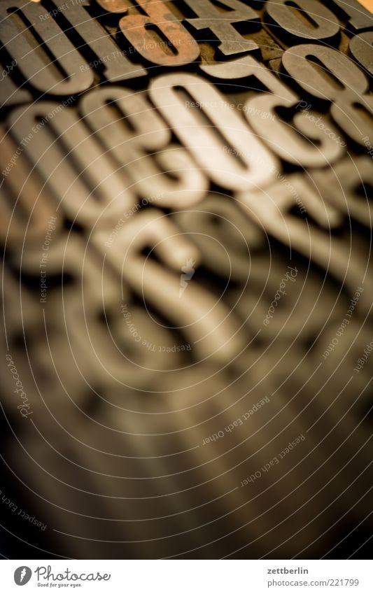 Zahlen alt Ziffern & Zahlen Buchstaben Zeichen Typographie Printmedien November Stempel Druckerei Drucktechnik Setzerei