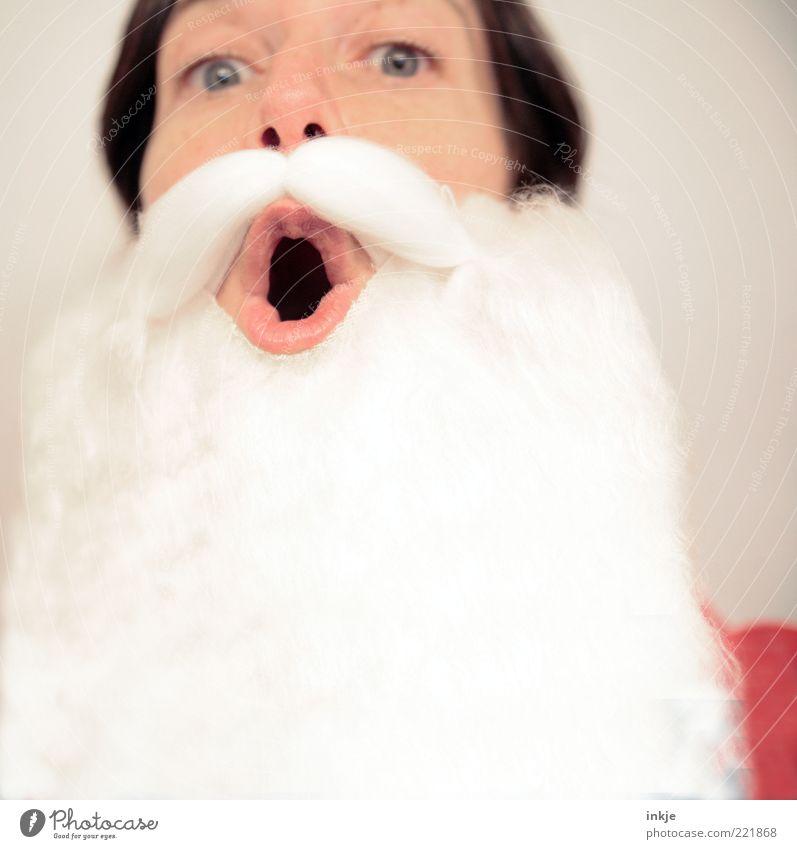 Hohohooo! Weihnachten & Advent Erwachsene Gefühle Feste & Feiern Stimmung Kitsch Wunsch Überraschung Maske Tradition Bart Vorfreude Weihnachtsmann Nostalgie