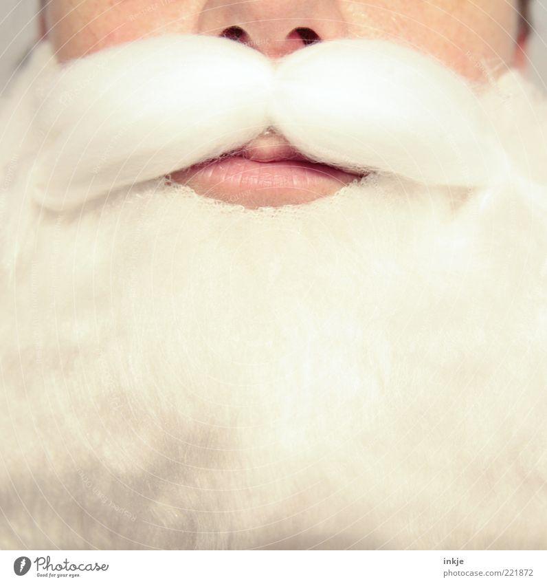 Verschwiegenheit Feste & Feiern Weihnachtsmann Karnevalskostüm Bart Oberlippenbart Vollbart Klischee weiß Gefühle Stimmung gehorsam Verlässlichkeit Wahrheit