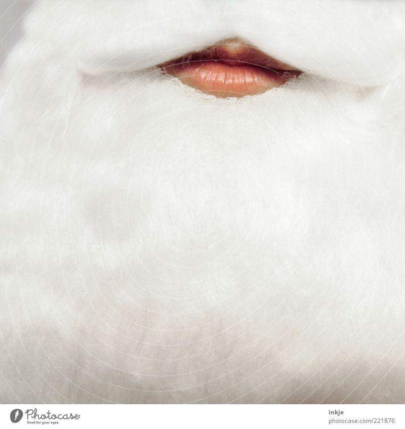 Lippenbekenntnis Feste & Feiern Karnevalskostüm Maske weißhaarig Bart Oberlippenbart Vollbart Gefühle Stimmung Vorfreude einzigartig geheimnisvoll Gelassenheit