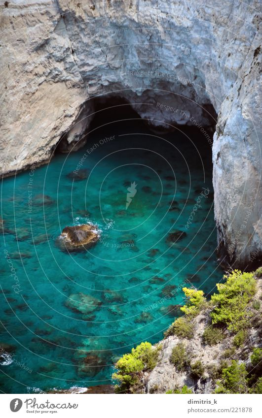 Natur schön Meer grün blau Sommer Strand Ferien & Urlaub & Reisen Berge u. Gebirge Landschaft Küste Felsen hoch Europa Insel