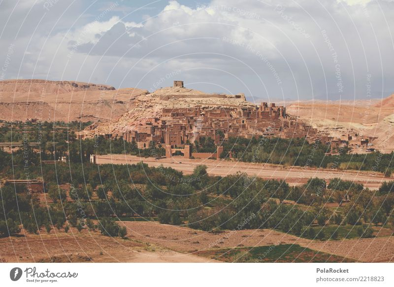 #A# House of Dragons Kunst ästhetisch Marokko Filmset Filmmaterial Filmindustrie Arabien Naher und Mittlerer Osten Weltkulturerbe Historische Bauten Kultur