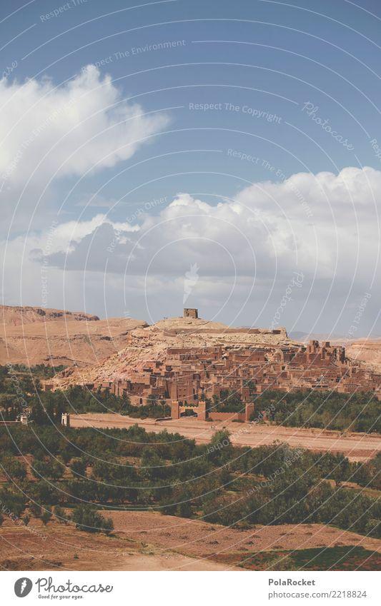 #A# Weltkultur Kunst ästhetisch Landschaft Marokko Arabien Naher und Mittlerer Osten Weltkulturerbe Festung Burg oder Schloss Stadtmauer Farbfoto mehrfarbig