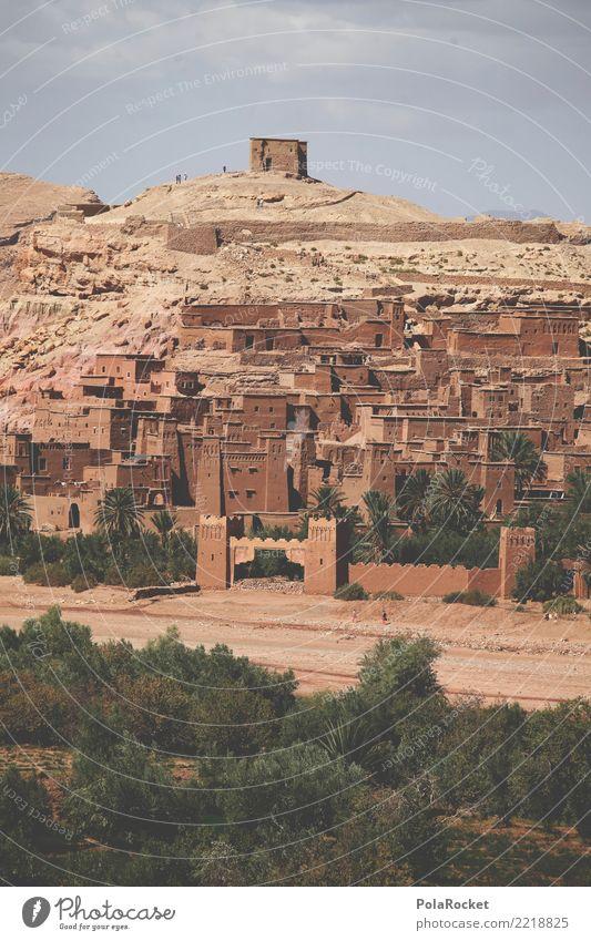 #A# Orient Kunst ästhetisch Stadt Naher und Mittlerer Osten Arabien Kulisse Mauer Marokko Burg oder Schloss Befestigung Weltkulturerbe Farbfoto Gedeckte Farben