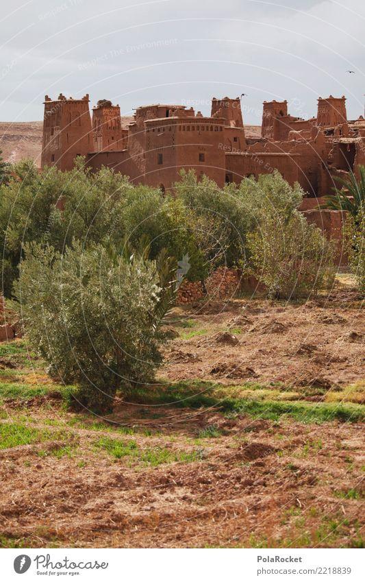 #A# Castle Haus ästhetisch Marokko Festung Burg oder Schloss Naher und Mittlerer Osten Arabien Farbfoto mehrfarbig Außenaufnahme Menschenleer Textfreiraum links