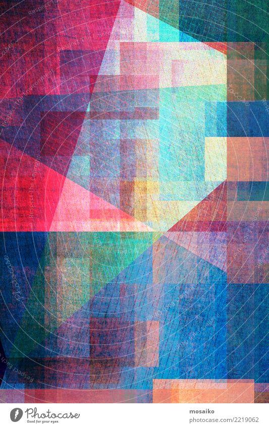 Geometrische Formen Lifestyle Stil Design Nachtleben Entertainment Party Veranstaltung Business Internet Linie Streifen ästhetisch trendy retro blau mehrfarbig