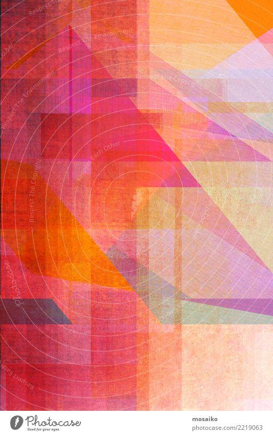 Geometrische Formen Freude Lifestyle Hintergrundbild Stil Business Party rosa orange Design Linie retro elegant Grafik u. Illustration Streifen Lebewesen