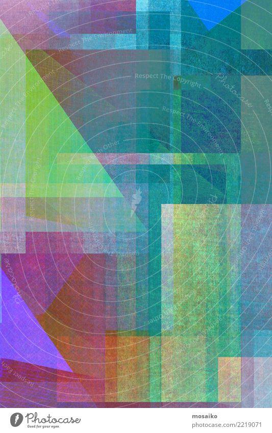 Geometrische Formen blau grün Lifestyle Hintergrundbild Stil Kunst außergewöhnlich Party Design Linie retro elegant ästhetisch authentisch einzigartig Idee