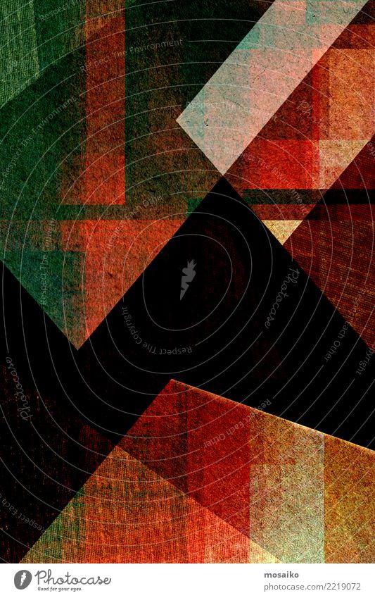 geometrischer Hintergrund - farbige Textur Stil Design schön Dekoration & Verzierung Kunst Papier Stein Streifen hell modern retro grün türkis einzigartig