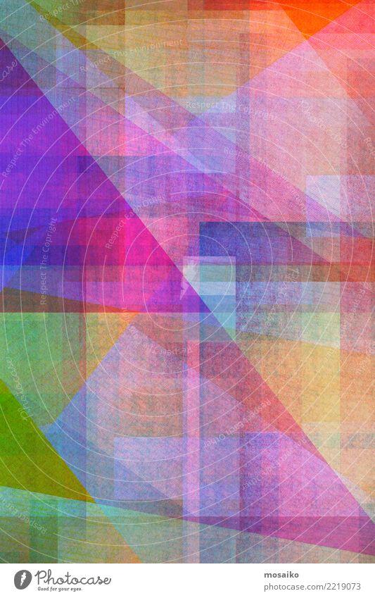 Geometrische Formen blau Wärme Hintergrundbild Stil Business außergewöhnlich rosa orange Design retro ästhetisch authentisch malen Grafik u. Illustration