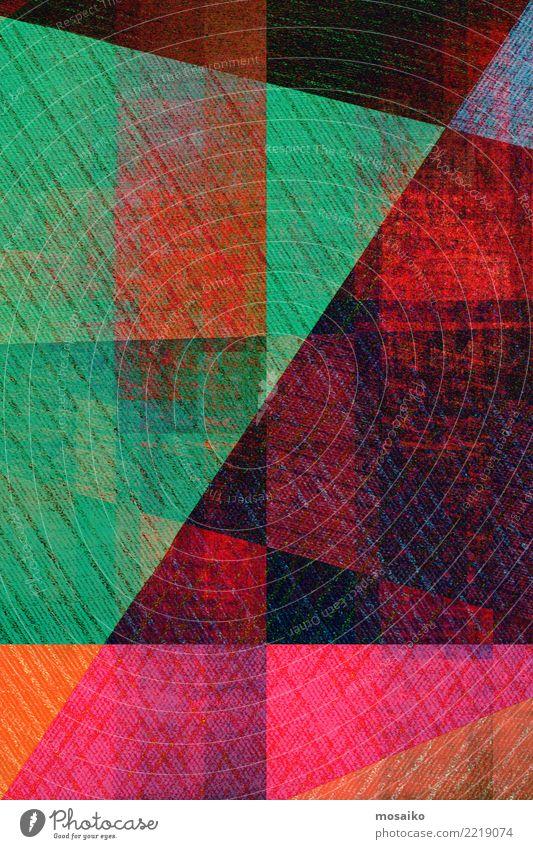 Geometrische Formen Stil Design Freude Freizeit & Hobby Basteln Entertainment Party Veranstaltung Business Linie Streifen trendy retro trashig blau mehrfarbig