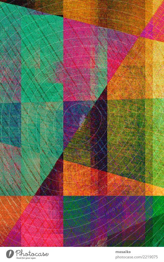 Geometrische Formen Farbe Wärme Hintergrundbild Stil Business Party Stimmung Design Linie retro elegant ästhetisch Kreativität Idee Grafik u. Illustration