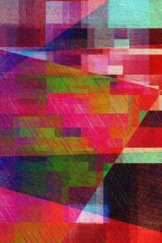 Geometrische Formen Stadt Wärme Hintergrundbild Stil Business außergewöhnlich orange rosa Design wild retro verrückt authentisch Coolness Grafik u. Illustration