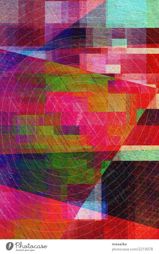Geometrische Formen Stil Design Business Internet Wärme Fahne authentisch außergewöhnlich Coolness trendy retro verrückt trashig Stadt wild violett orange rosa
