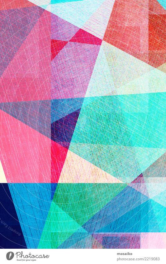 bunter geometrischer Hintergrund Stil Design Dekoration & Verzierung Business Internet Kunst Linie dunkel modern retro blau weiß Farbe Kreativität Transparente