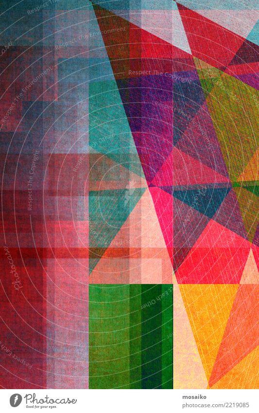 Geometrische Formen Freude gelb Hintergrundbild Stil Kunst Business Party orange rosa Design Linie retro elegant ästhetisch verrückt Grafik u. Illustration