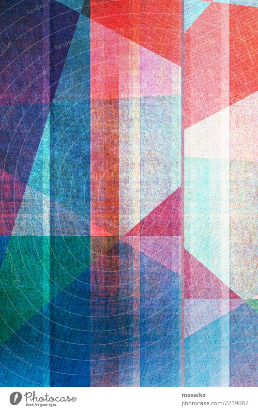 geometrischer Grafikhintergrund Stil Design Dekoration & Verzierung Business Internet Kunst Linie dunkel modern retro blau weiß Farbe Kreativität Transparente