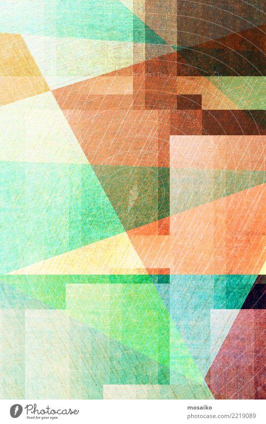 Geometrische Formen Stil Design Business Kunst Kunstwerk Papier Zettel ästhetisch authentisch außergewöhnlich eckig einfach trendy einzigartig retro wild blau