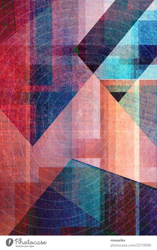 Geometrische Formen elegant Stil Design Freude Business Internet Kunst außergewöhnlich trendy Originalität rebellisch retro wild blau violett rosa ästhetisch