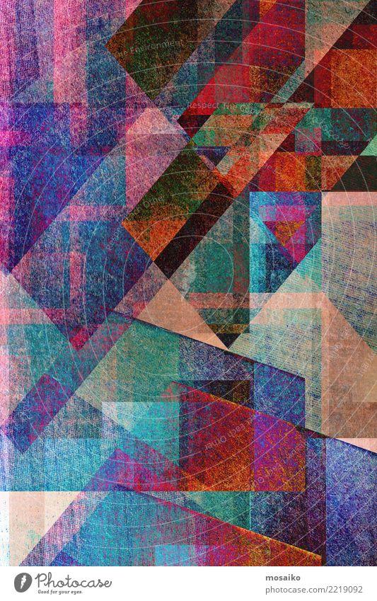 dunkelblauer und roter geometrischer Hintergrund Farbe weiß Stil Kunst Design Linie retro Dekoration & Verzierung modern elegant Kreativität