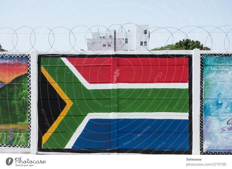 free SA Ferien & Urlaub & Reisen Tourismus Ferne Freiheit Sommer Sommerurlaub Südafrika Bauwerk Gebäude Mauer Wand Stein Zeichen Sicherheit