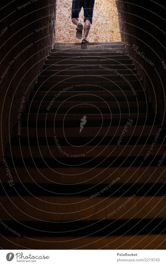 #A# way up 1 Mensch Abenteuer Treppe Karriere aufsteigen wandern entdecken Farbfoto Gedeckte Farben Außenaufnahme Nahaufnahme Detailaufnahme Experiment abstrakt