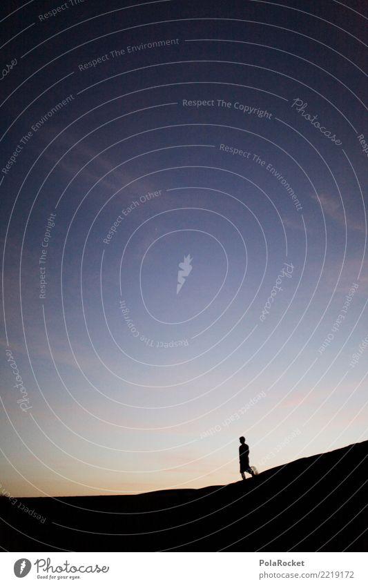 #A# Wüstenläufer Mensch Einsamkeit Ferne Kunst Zufriedenheit wandern ästhetisch Abenteuer laufen Kunstwerk mystisch Sahara Morgenland