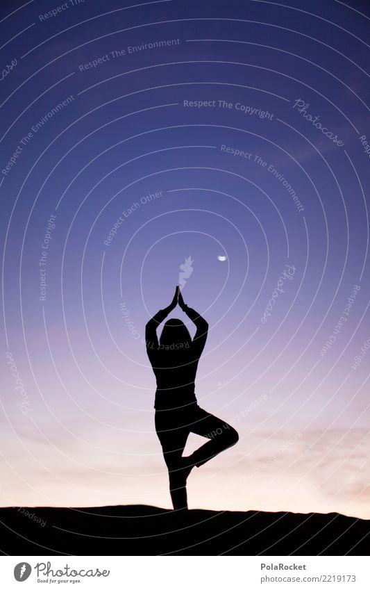 #A# schön konzentrieren Mensch Erholung ästhetisch stehen fantastisch Energie Weltall Wüste Meditation Gleichgewicht Yoga Mond Gebet Nachthimmel Sahara