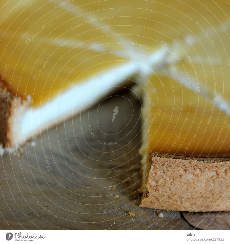 missing link weiß Ernährung gelb Lebensmittel gold Kochen & Garen & Backen Teile u. Stücke Kuchen lecker Appetit & Hunger Duft Süßwaren Teilung genießen Backwaren Torte