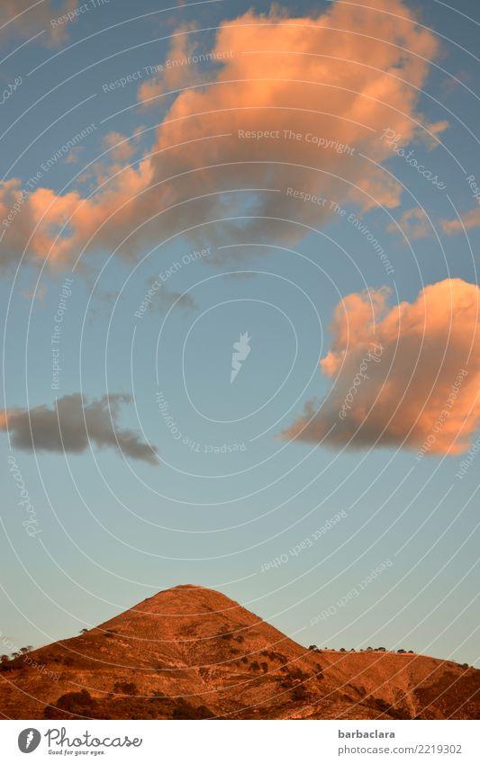 Abendhimmel in Andalusien Ferien & Urlaub & Reisen Landschaft Urelemente Himmel Wolken Sonne Klima Schönes Wetter Hügel Berge u. Gebirge Spanien Stimmung