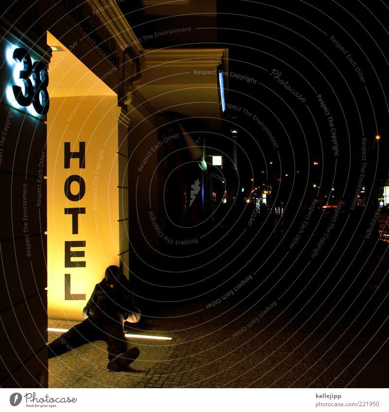 beau-rivage Mensch Mann Stadt Ferien & Urlaub & Reisen Berlin Erwachsene Schilder & Markierungen schlafen Ausflug Tourismus Schriftzeichen liegen