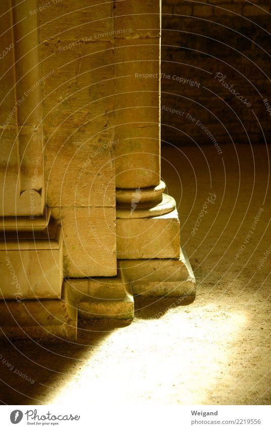 Säulenlicht Sonne ruhig Denken Kirche gold Glaube Gelassenheit Meditation Christentum Gebet geduldig Protestantismus Katholizismus Kloster Spiritualität