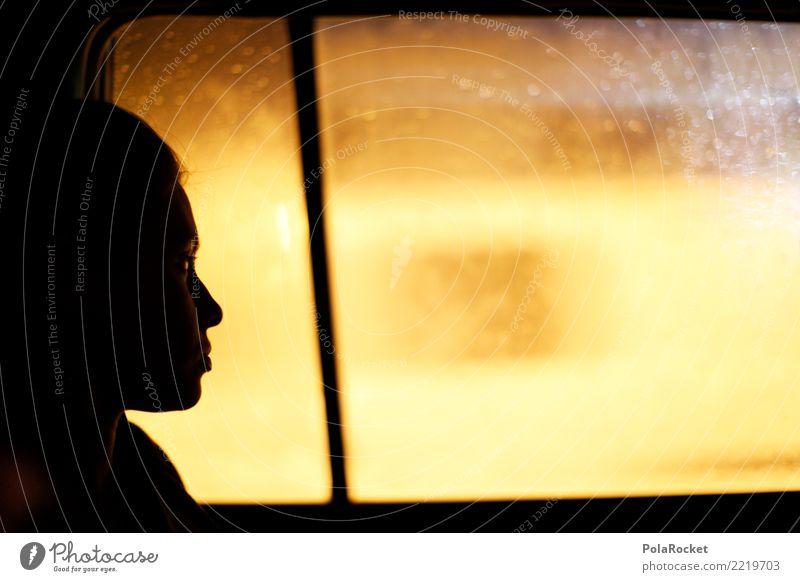 #A# driving home Kunst ästhetisch PKW Fenster Fensterscheibe Taxi Blick Ferne Unschärfe Frau Zukunft Futurismus Zukunftsorientiert träumen Zukunftstraum